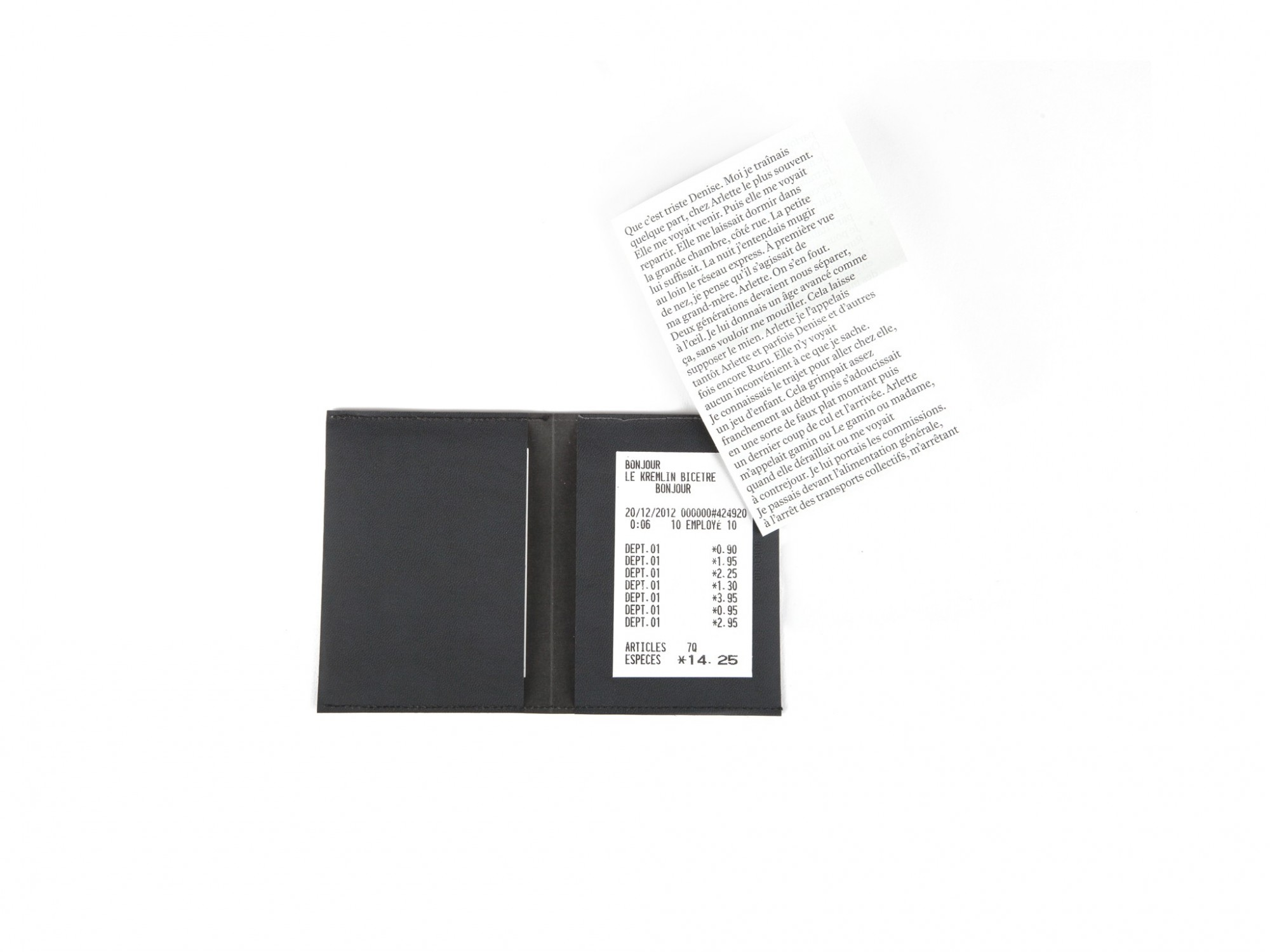 Le Kremlin-Bicêtre Éditions cent pages texte Olivier Gadet Ticket Alimentation générale