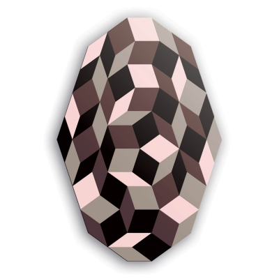 Plateau table basse, motif Penrose Ice Cream, géométrique et couleur creme glacée, design IchetKar, édition bazartherapy