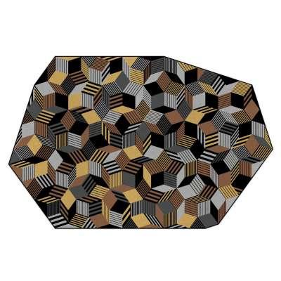 Tapis Penrose Rocks, couleur terre, sable, pierre fabrication française, Design IchetKar édition Bazartherapy