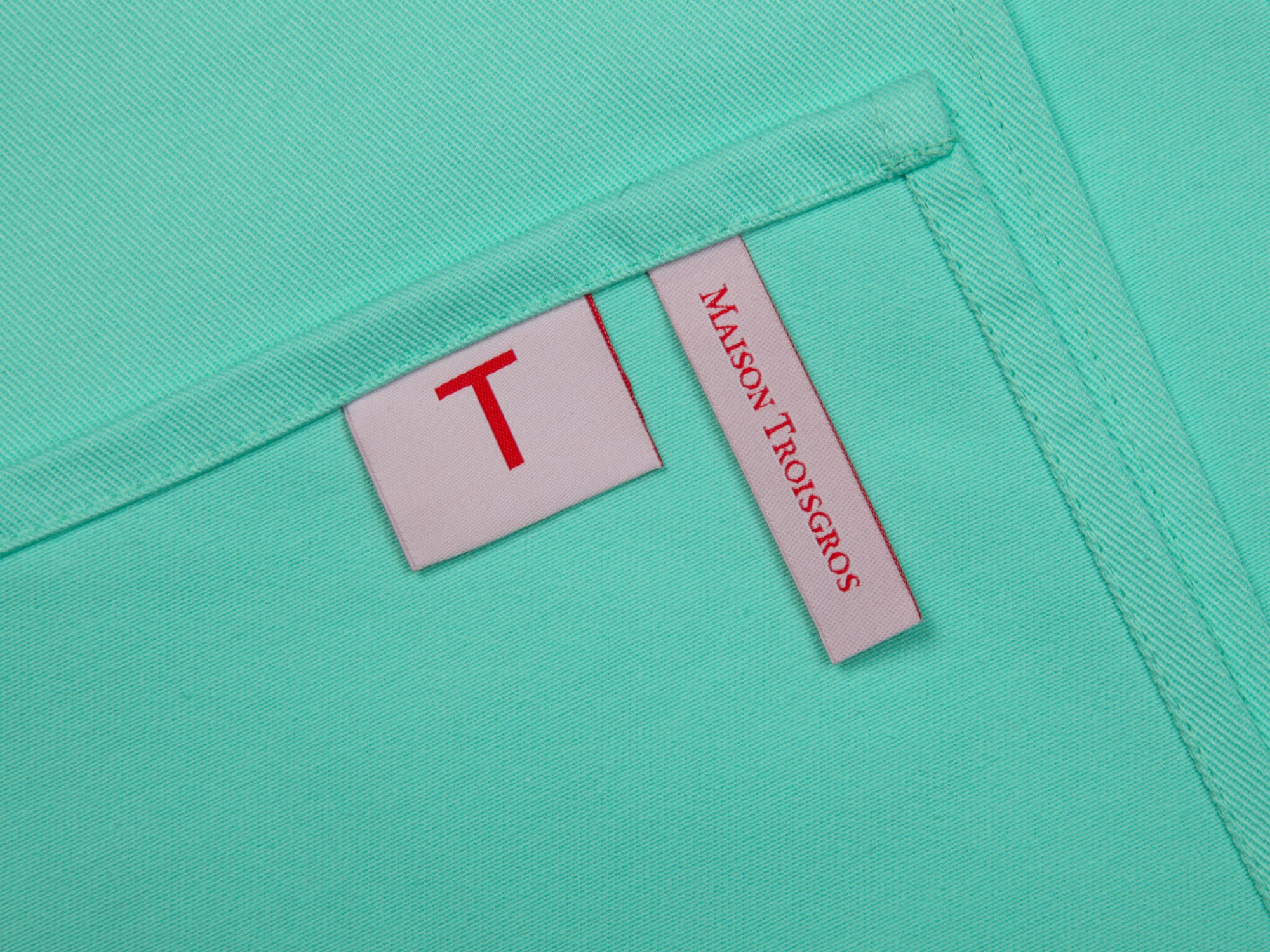 torchon turquoise Ich&Kar pour La maison Troisgros