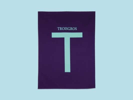 torchon aubergine Ich&Kar pour La maison Troisgros