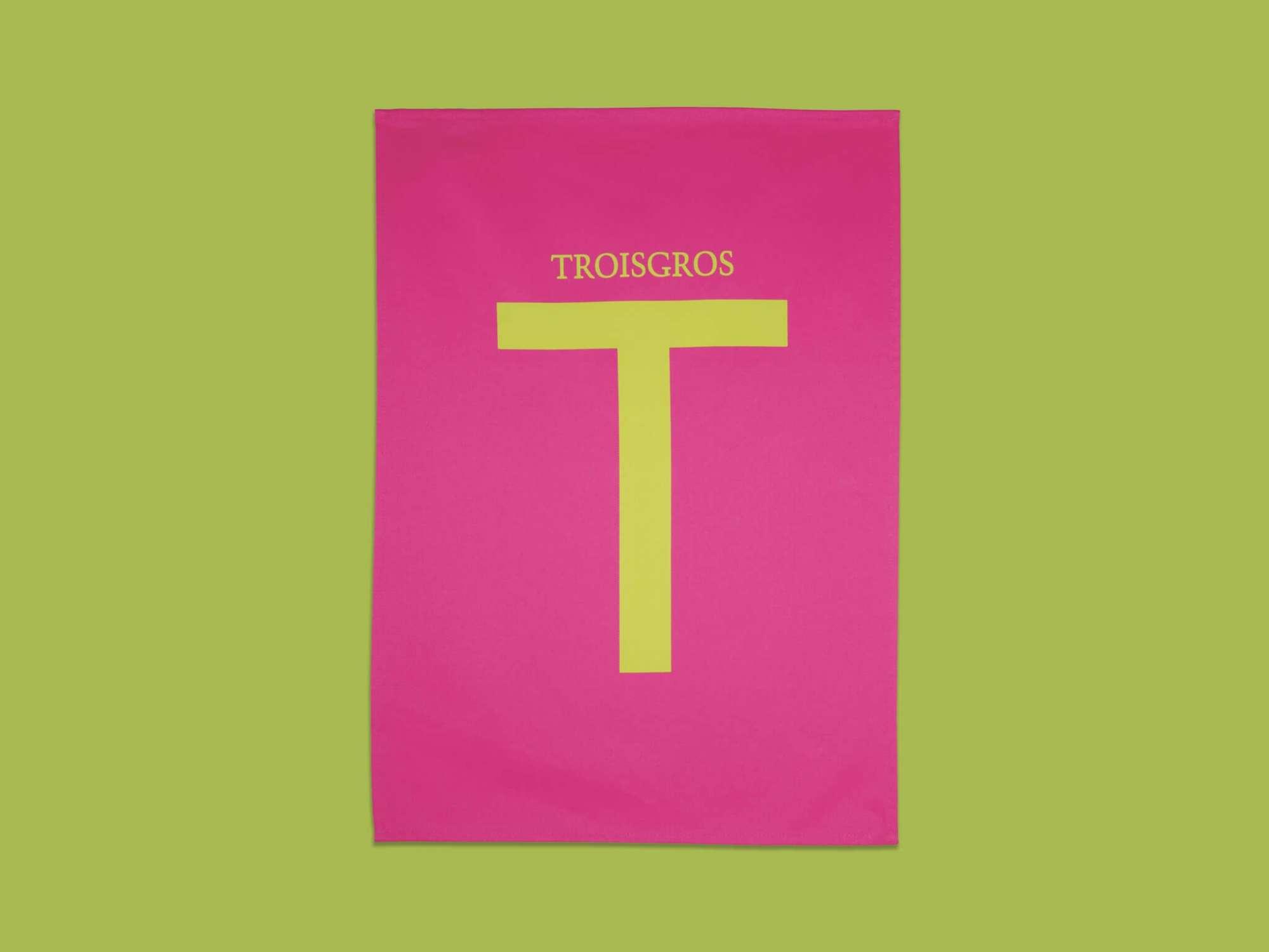 torchon fushia Ich&Kar pour La maison Troisgros