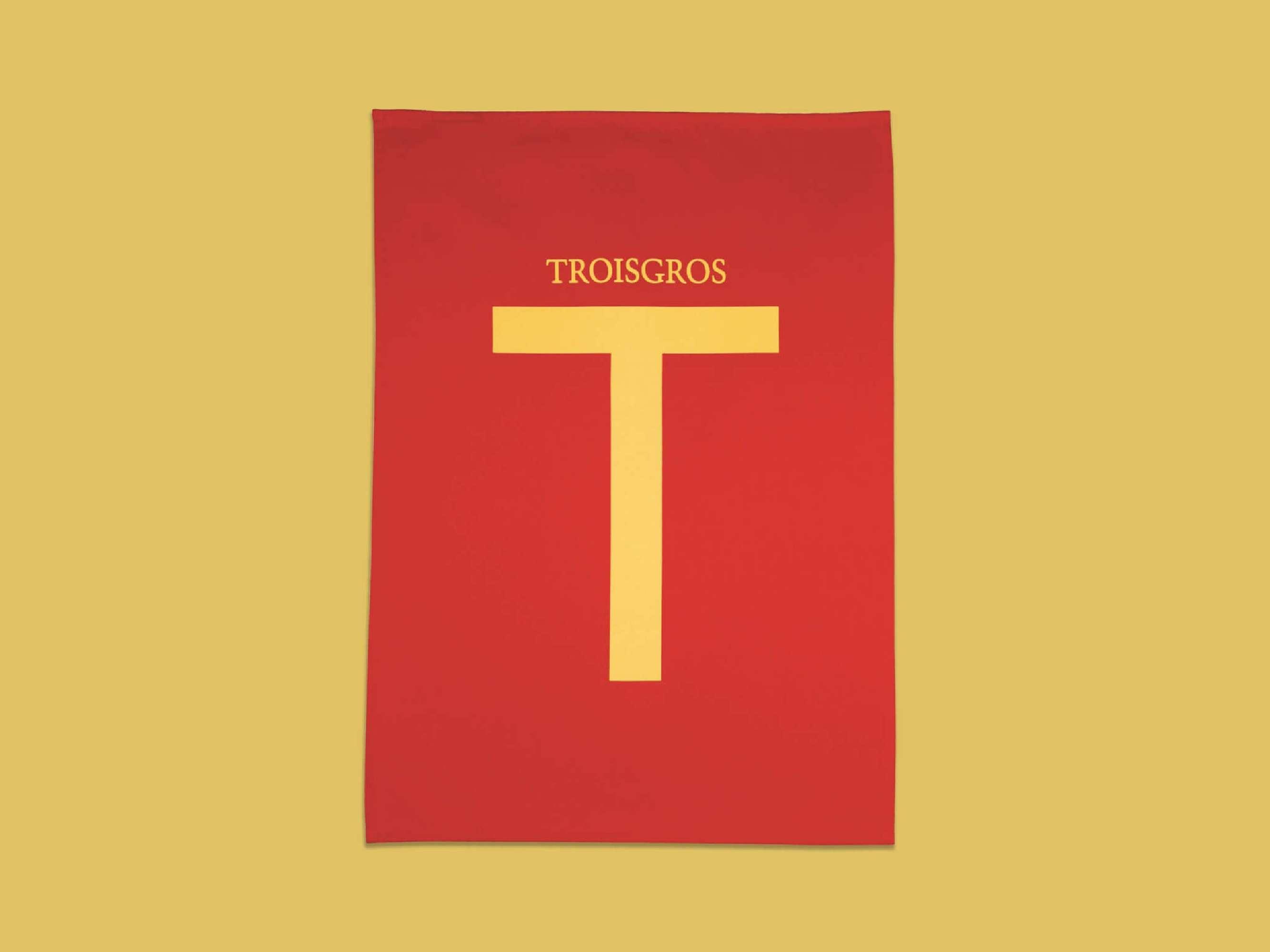torchon couleur paprika Ich&Kar pour La maison Troisgros