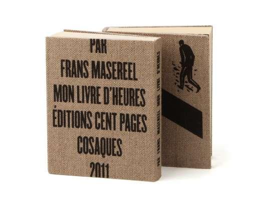 Frans Masereel Mon livre d'heures éditions cent pages Jaquette sérigraphie sur toile bois gravé