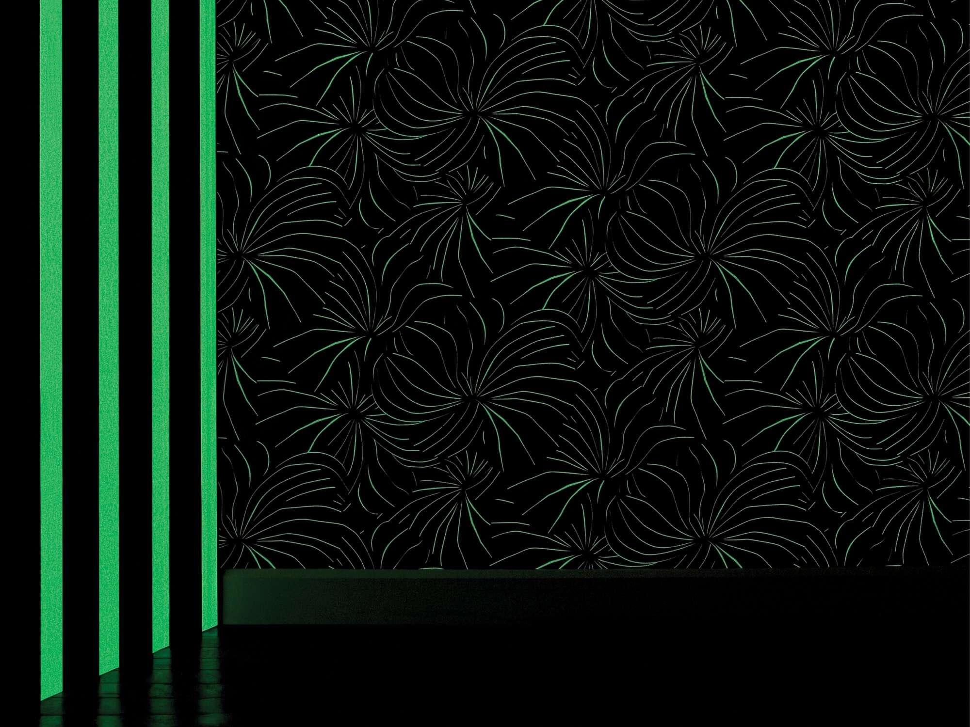 Papier peint Berlingot phosphorescente la nuit, design Ich&Kar