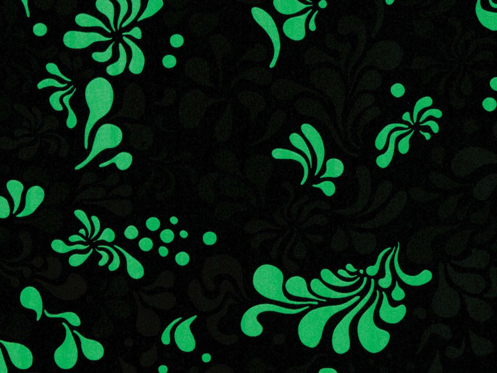 Zoom sur le papier peint Minipop flower phosphorescent, design IchetKar
