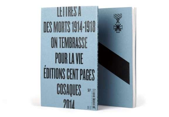 couverture typo du livre on  t'embrasse pour la vie, lettre aux poilus guerre 14 18