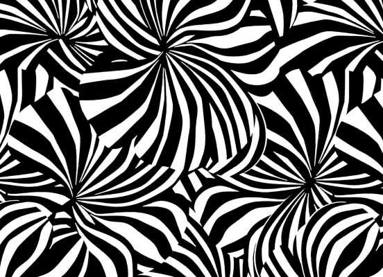 Papier peint Berlingot noir et blanc à encre phosphorescente, dessiné par le studio graphique IchetKar