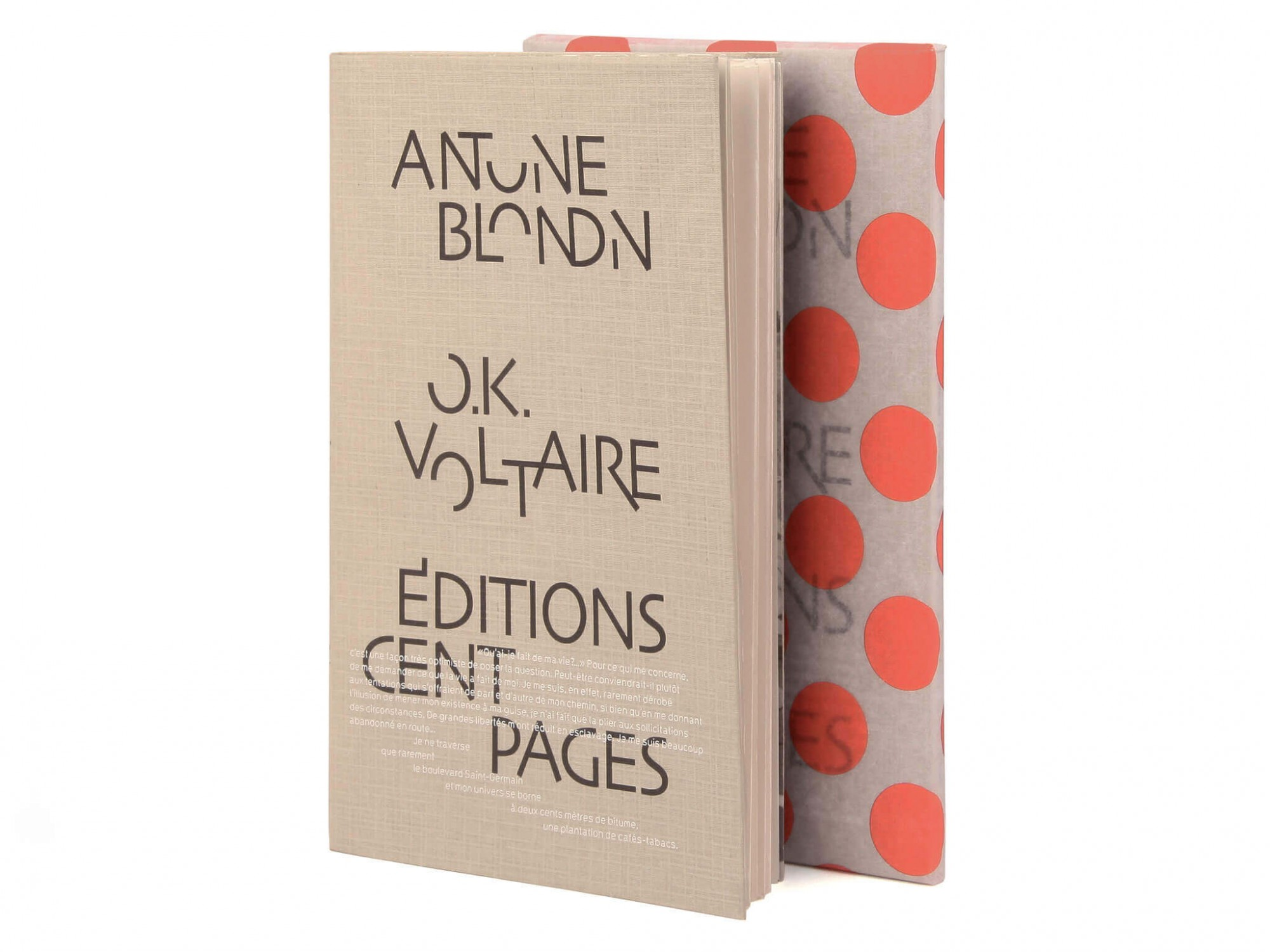 Antoine Blondin O.K. Voltaire Éditions cent pages collection Rouge-Gorge