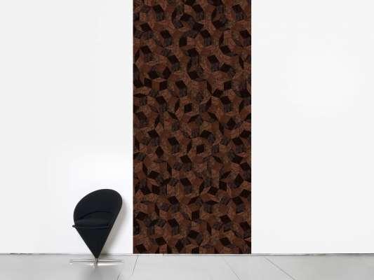 lé de papier peint avec motif géométrique penrose, design IchetKar