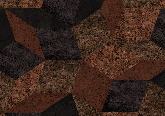 Zoom du papier peint motif géométrique penrose, Penrose liège Like cork, collection Penrose, design IchetKar