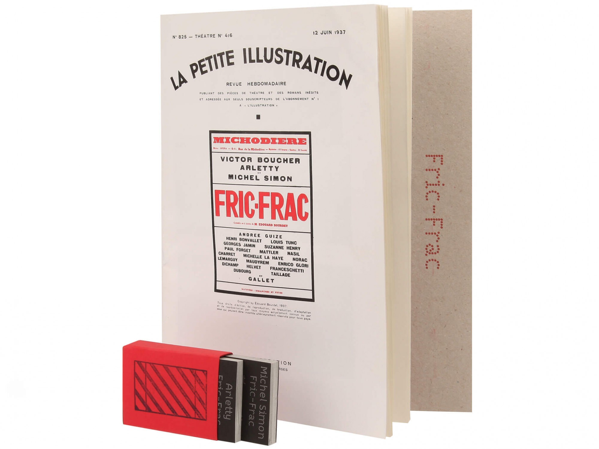 Fric-Frac Éditions cent pages Edouard Bourdet Fac-similé couverture La Petite Illustration