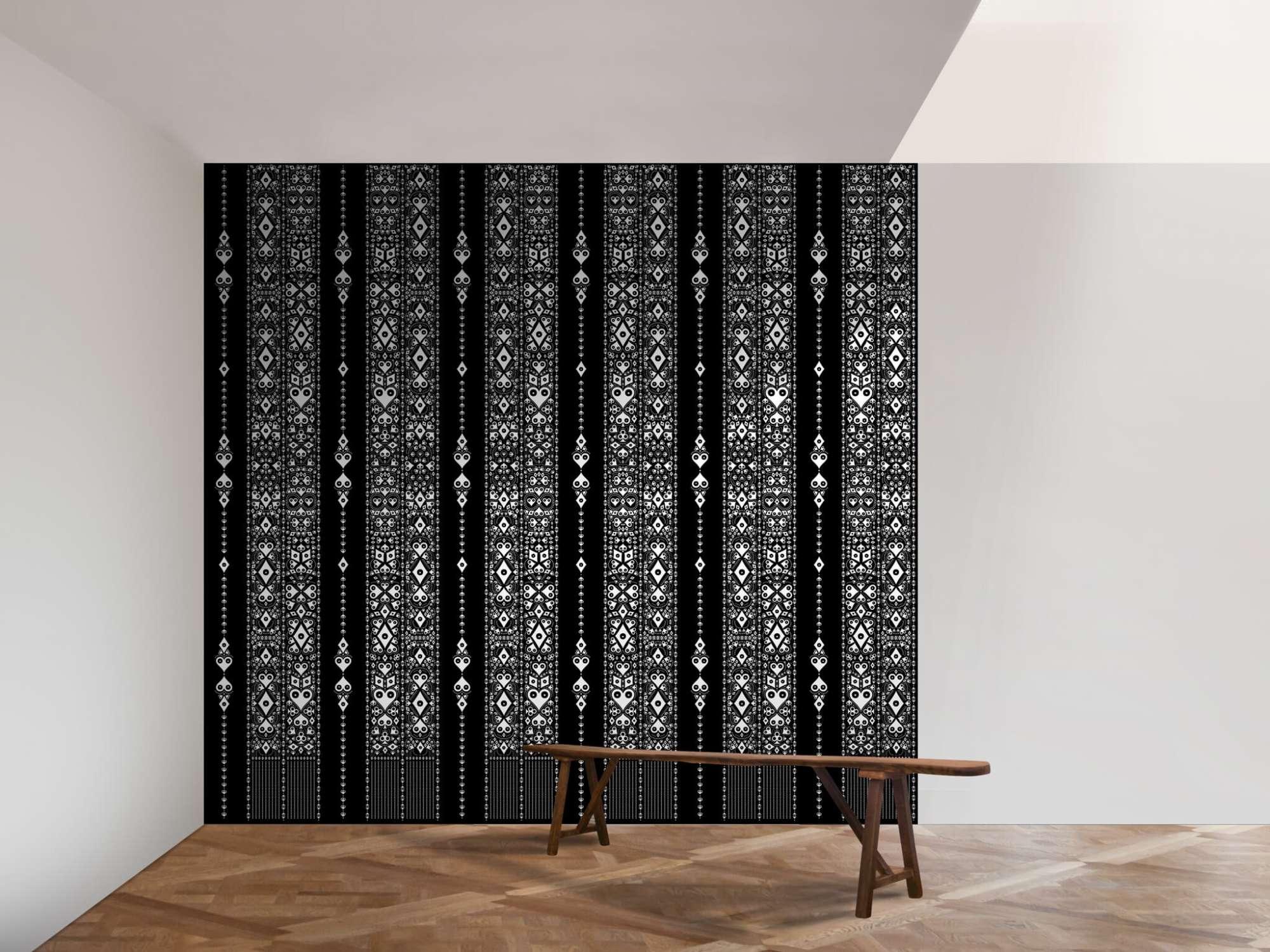 Le papier peint Pokerface Mariachi, ambiance mexicaine, les Cœur, pic, trèfle, carreau habillent vos murs, design ich&kar