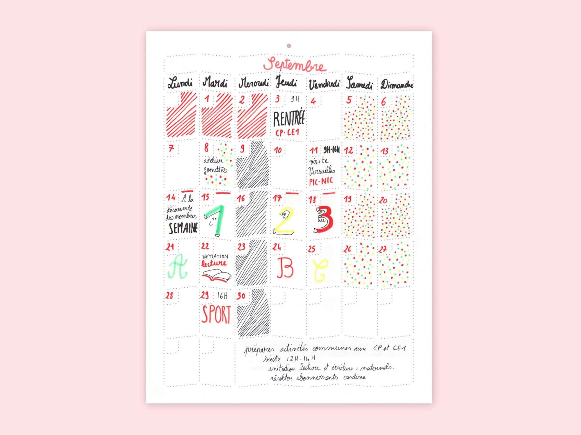 wall Memo Calendar • 35 x...