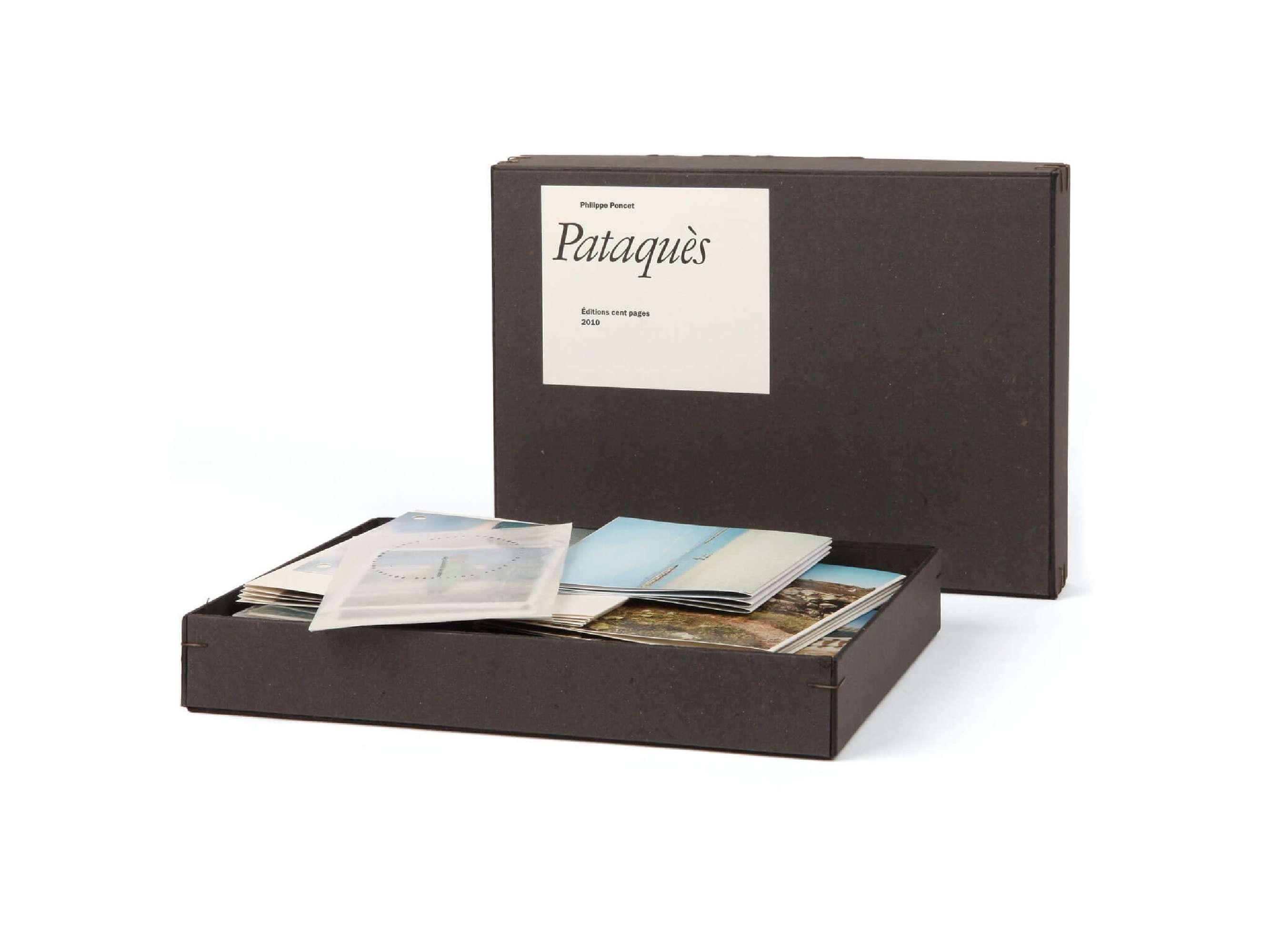 Philippe Poncet Pataquès Éditions cent pages Boîte carton photographies
