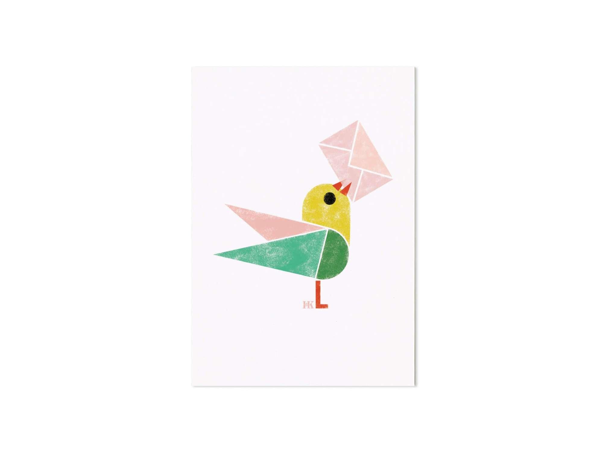 Birdy, Un oiseau vous apporte une lettre d'amour, Ich&Kar dessine une série de cartes illustrées de petits oiseaux.