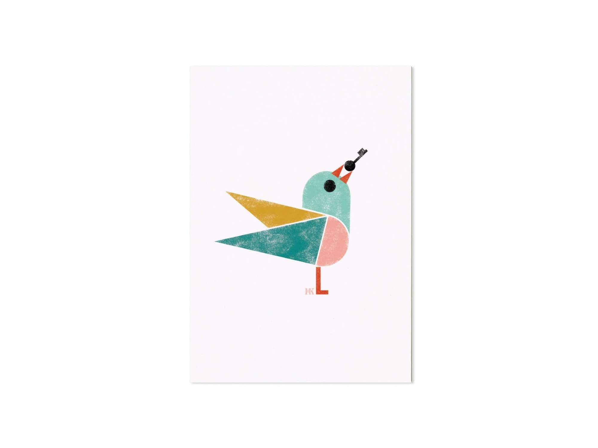 Birdy, Un oiseau vous apporte une clef, Ich&Kar dessine une série de cartes illustrées de petits oiseaux.