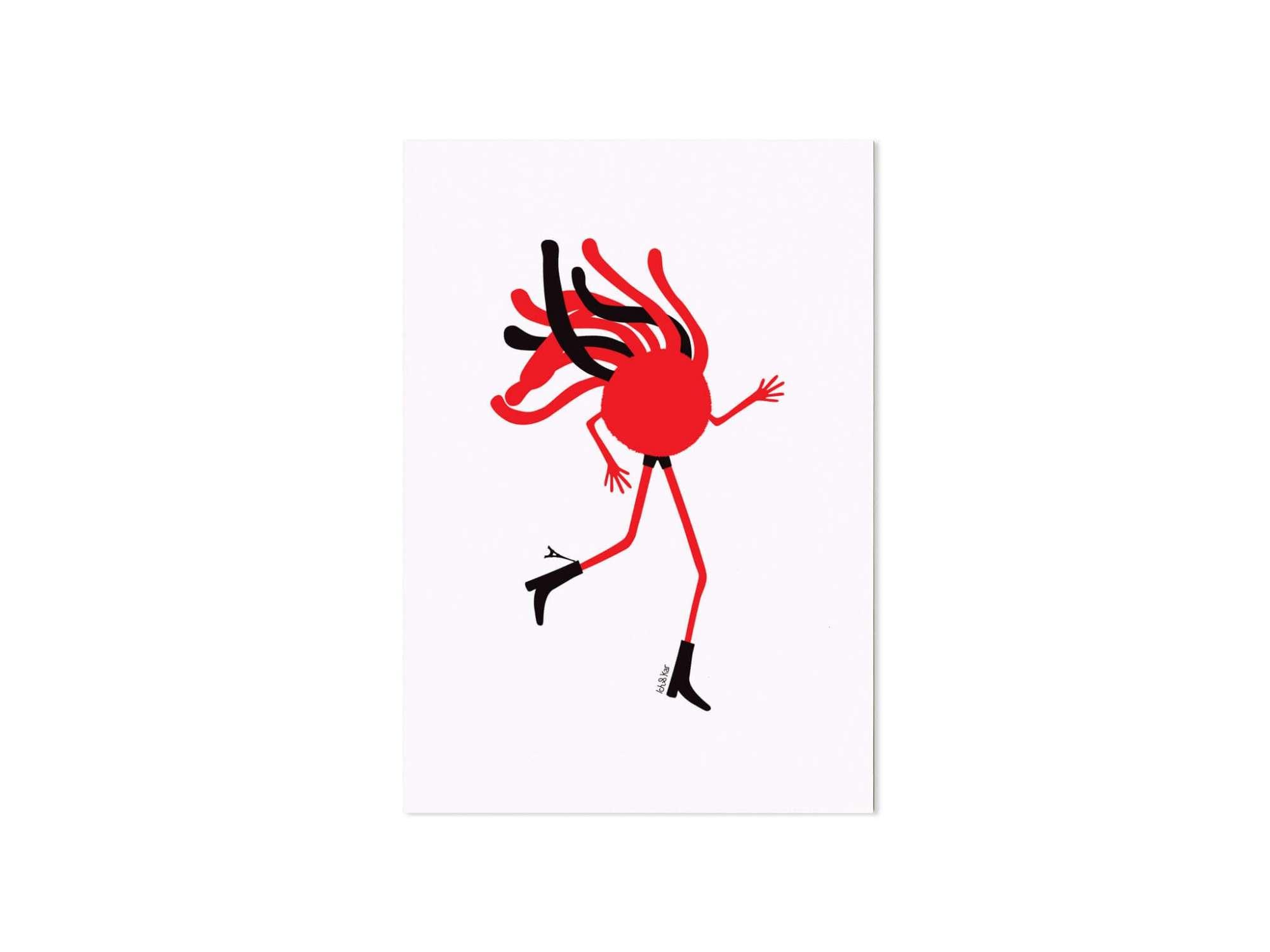 Mister Spaghetti est Parisien, Il porte sa Tour Eiffel en emblème sur sa botte et parcourt le monde en courant.
