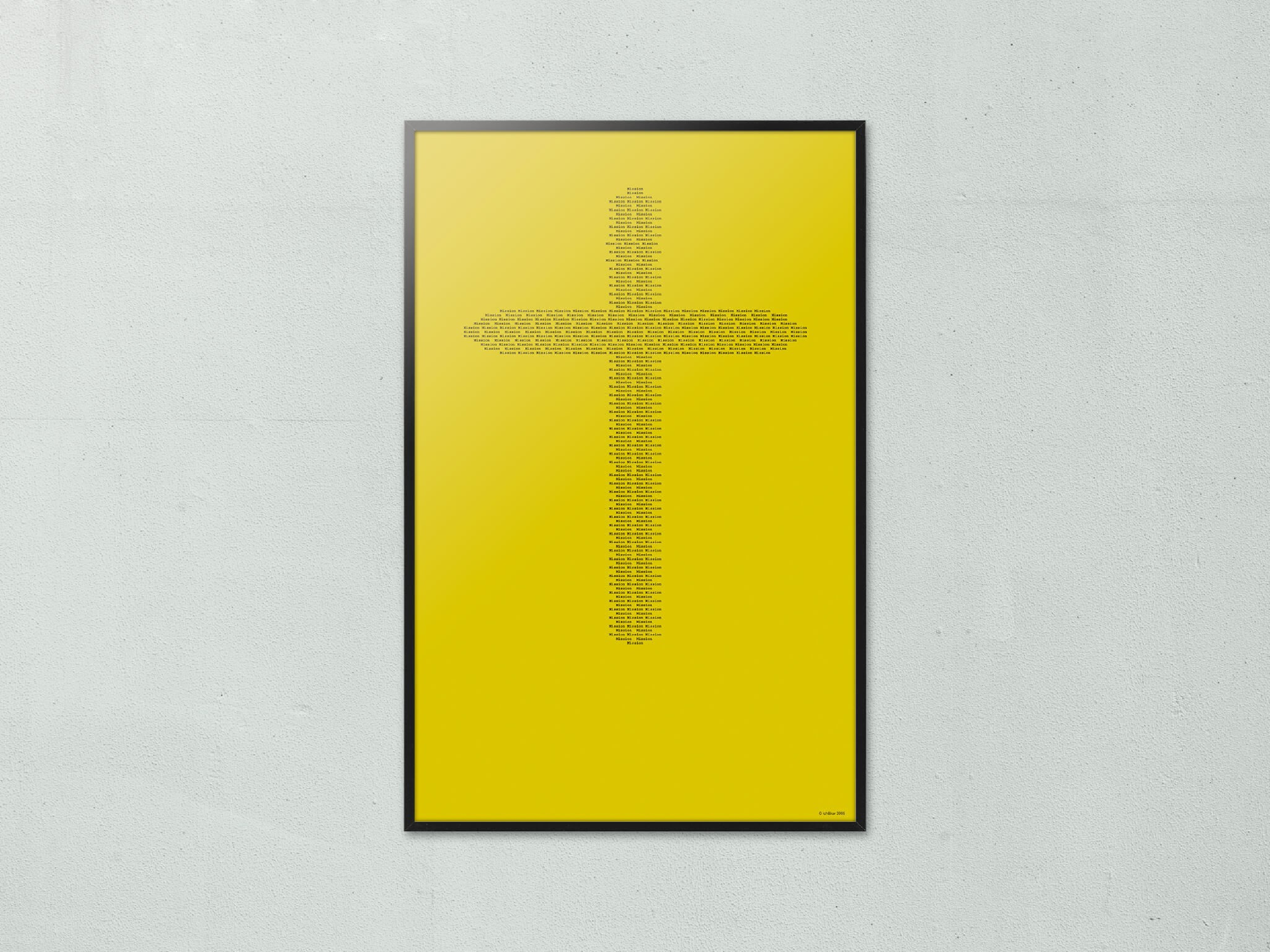 Affiche Cross, de petit mots Mission forme ensemble une grande croix, Mission to mars, design ichetkar