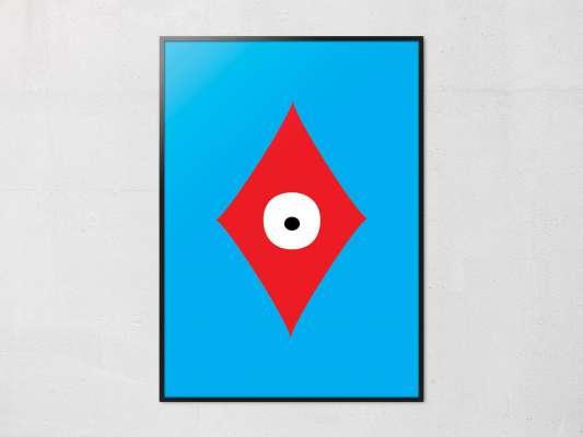 Affiche Carreau de la collection pokerface dessiné par Ichetkar. diamond
