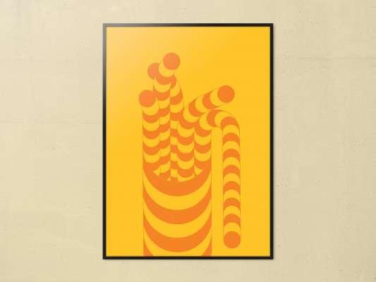 L'affiche Ado Sato est un poster pour l'exposition du perte de Eko Sato, grand artiste des années 70.