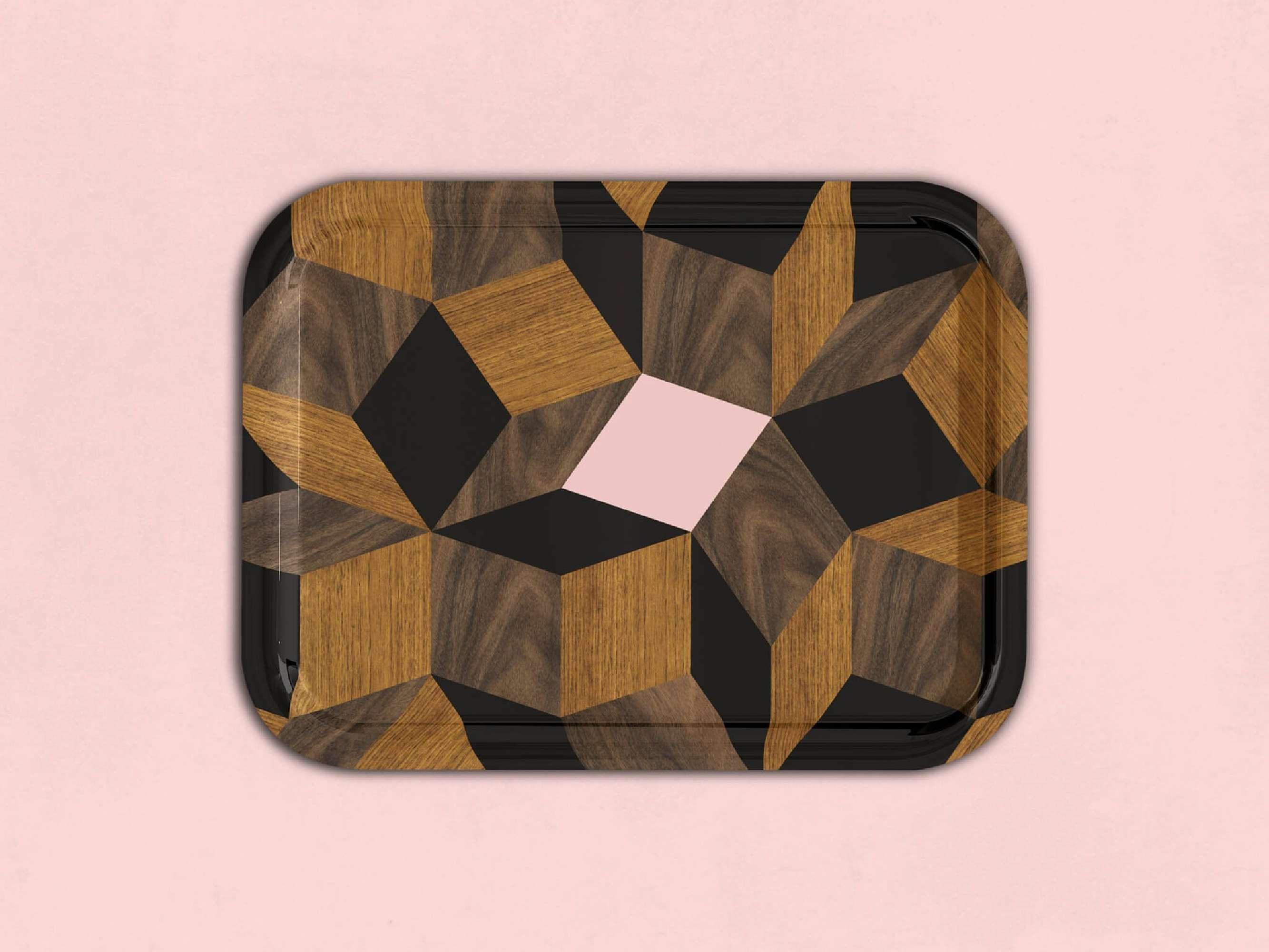 Plateau Penrose Spring Wood, Design IchetKar édition Bazartherapy