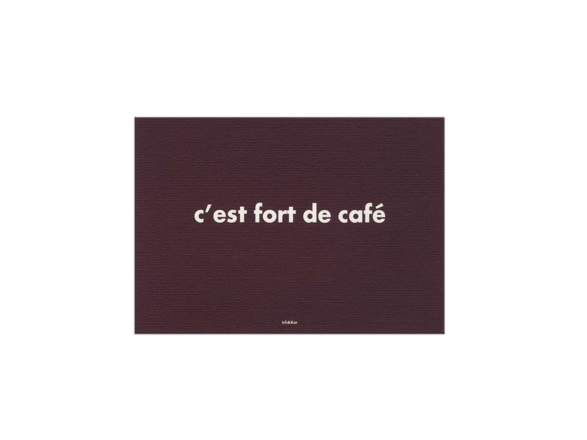 C'est fort de café, carte marron par IchetKar