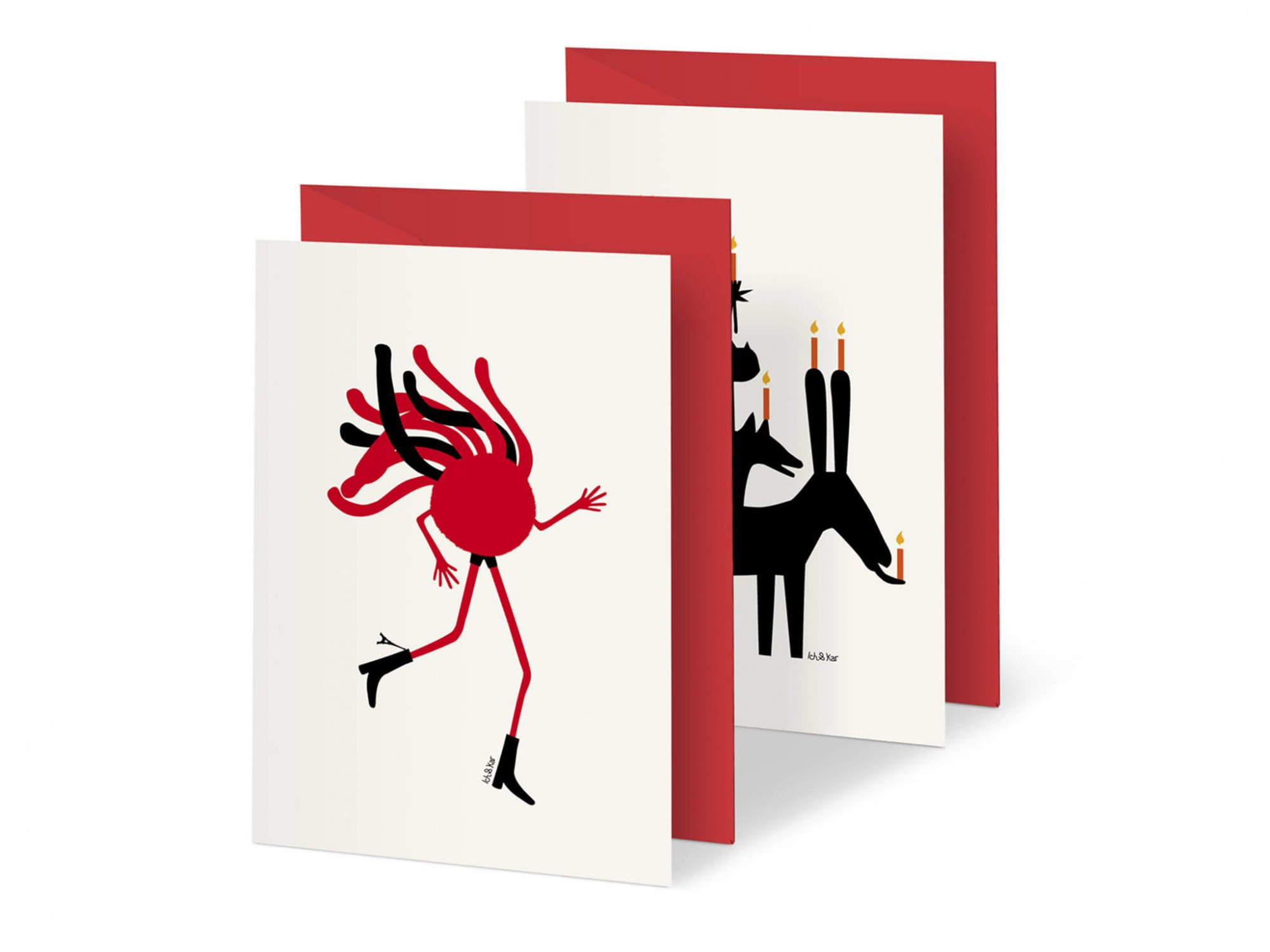 Duo de cartes Spaghetti et Happy birthday par le studio Ichetkar.