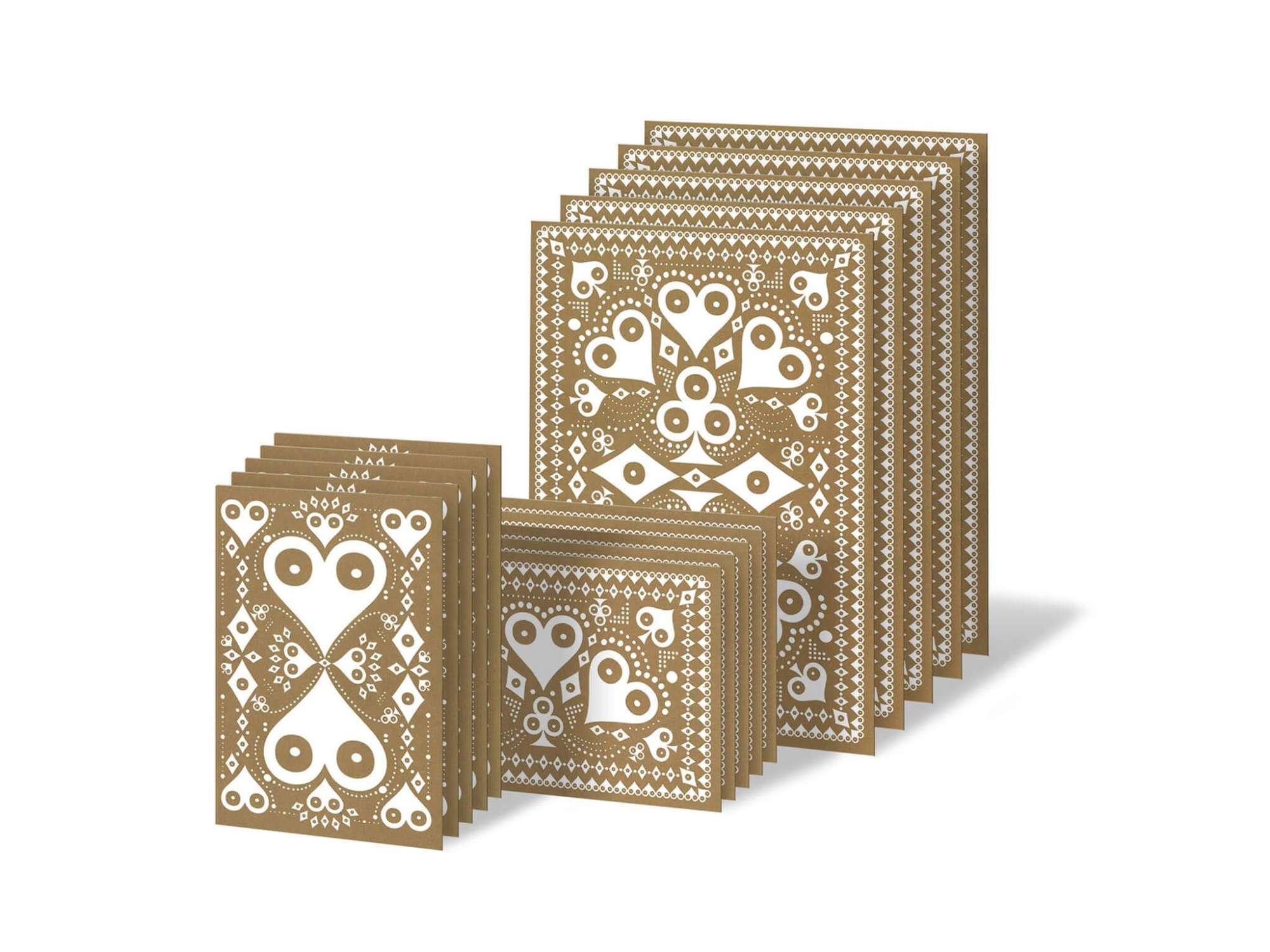 cartes d'anniversaires ou carte de noël, les cartes dorées Ich&Kar sont parfaites pour toutes les occasions !