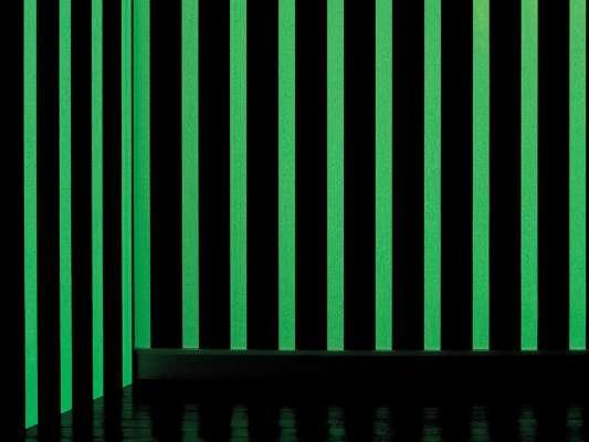La nuit le papier peint phosphorescent éclairé votre pièce avec des ligne verticale, design ichetkar