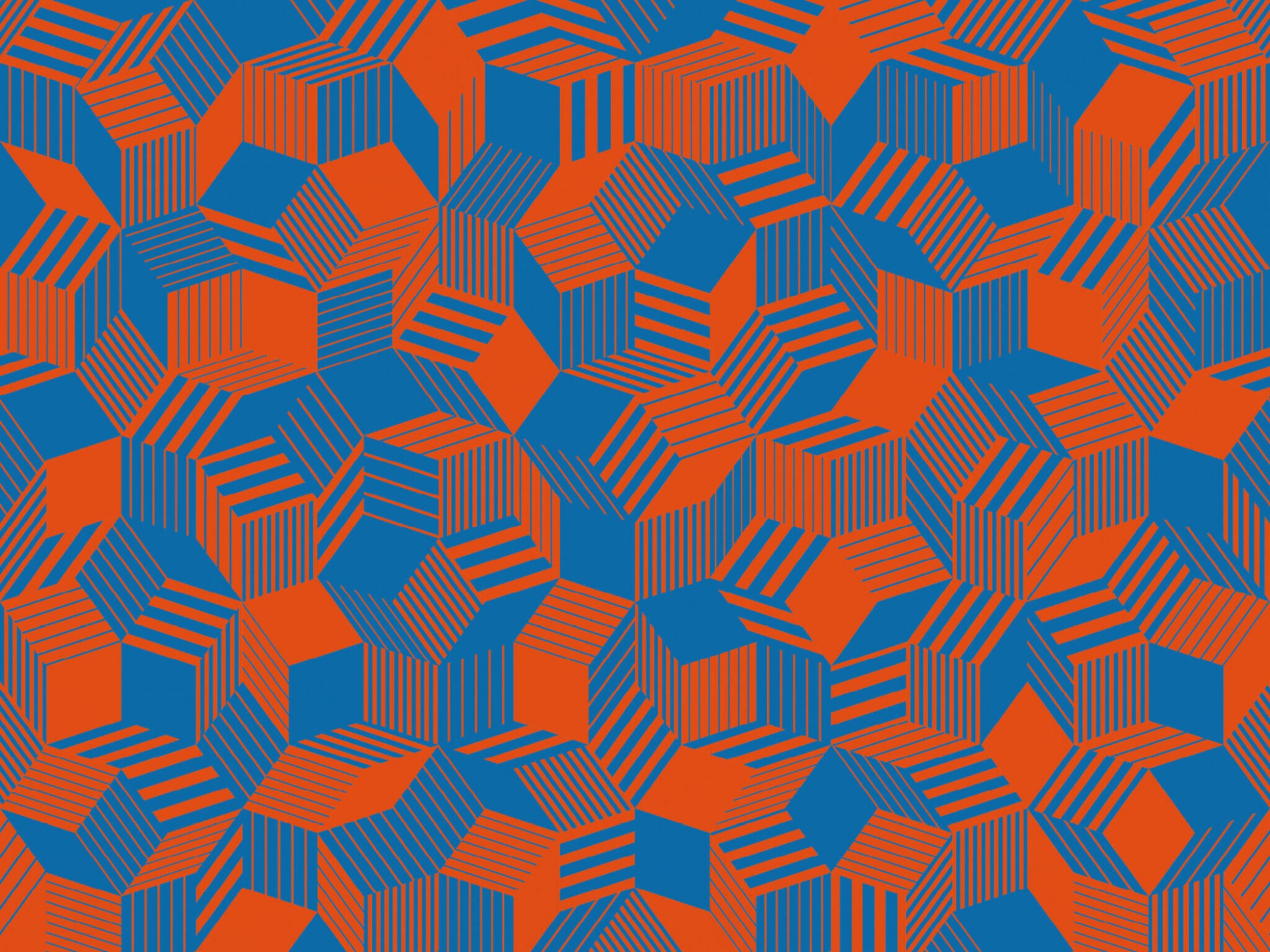 Zoom du papier peint motif géométrique penrose, Penrose Liechtenstein, collection Penrose, design IchetKar