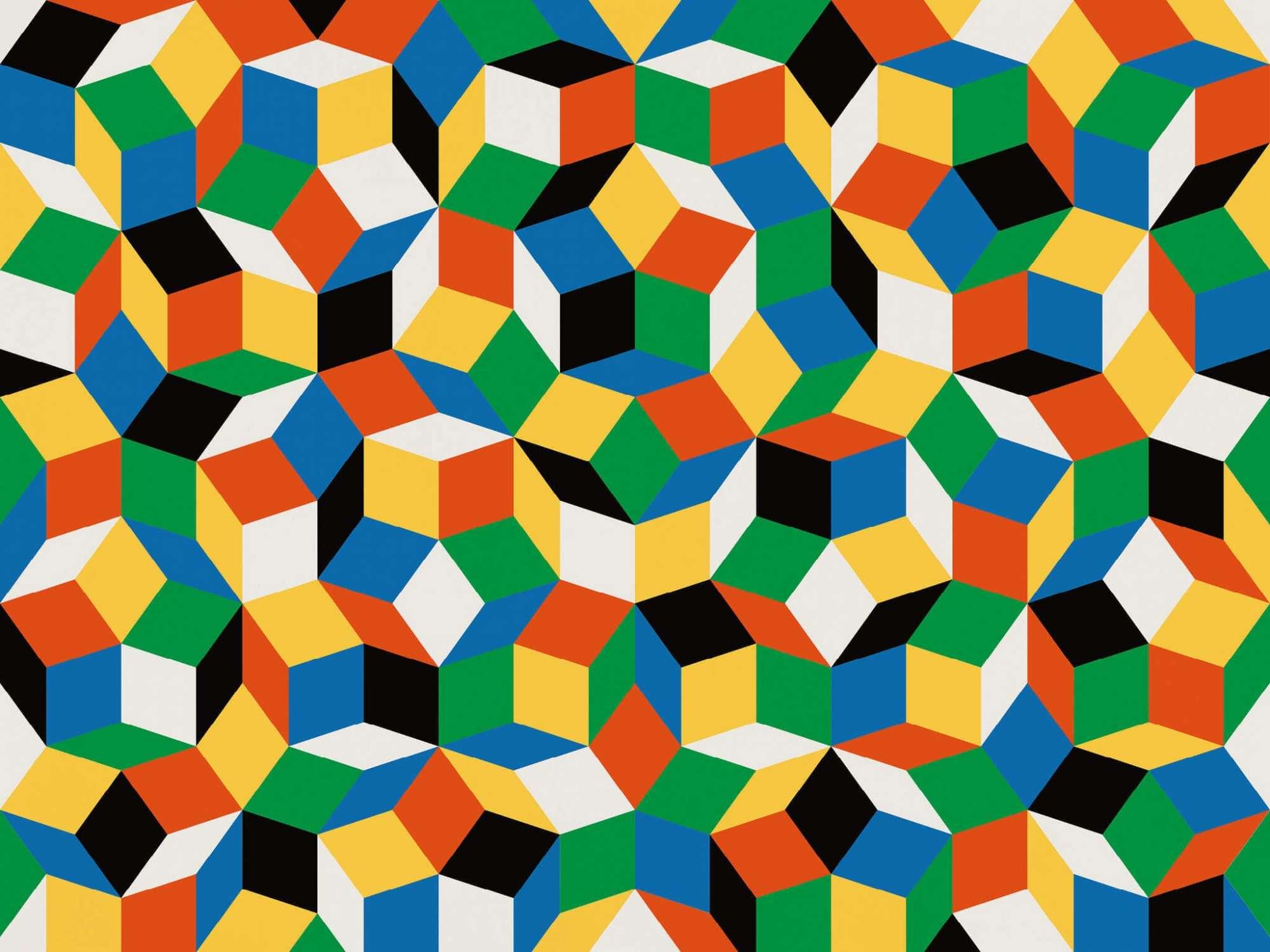 Papier Peint Forme Geometrique.Papier Peint Penrose Primaries