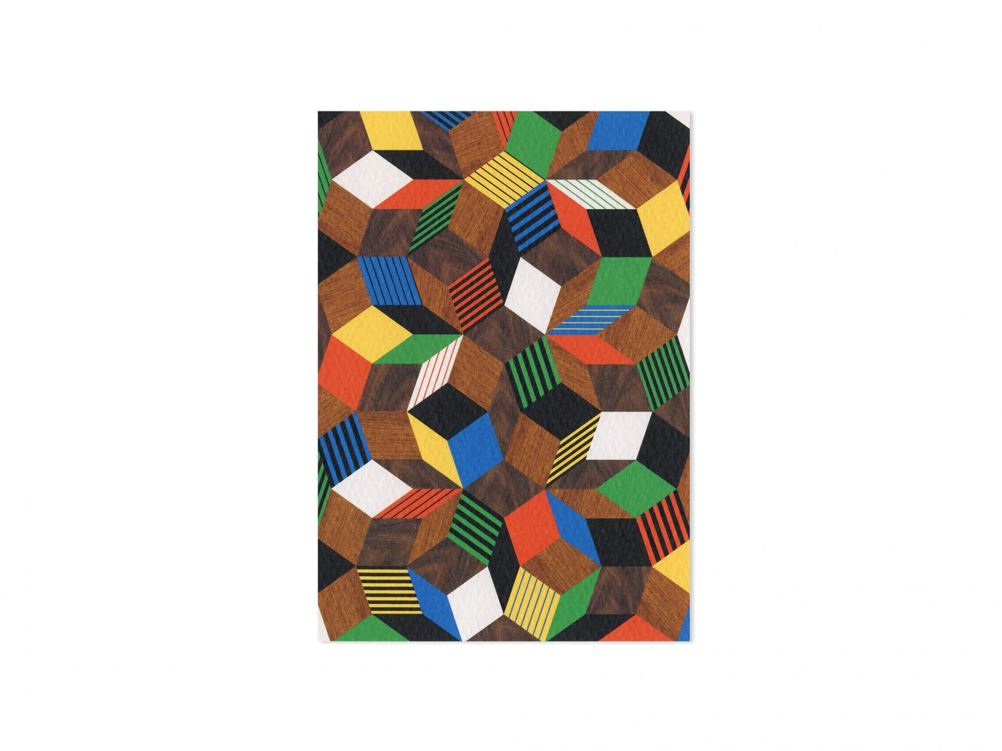 carte Penrose Crazy Wood, Une collection de cartes postales graphiques dessinés par les artistes Ich&Kar.