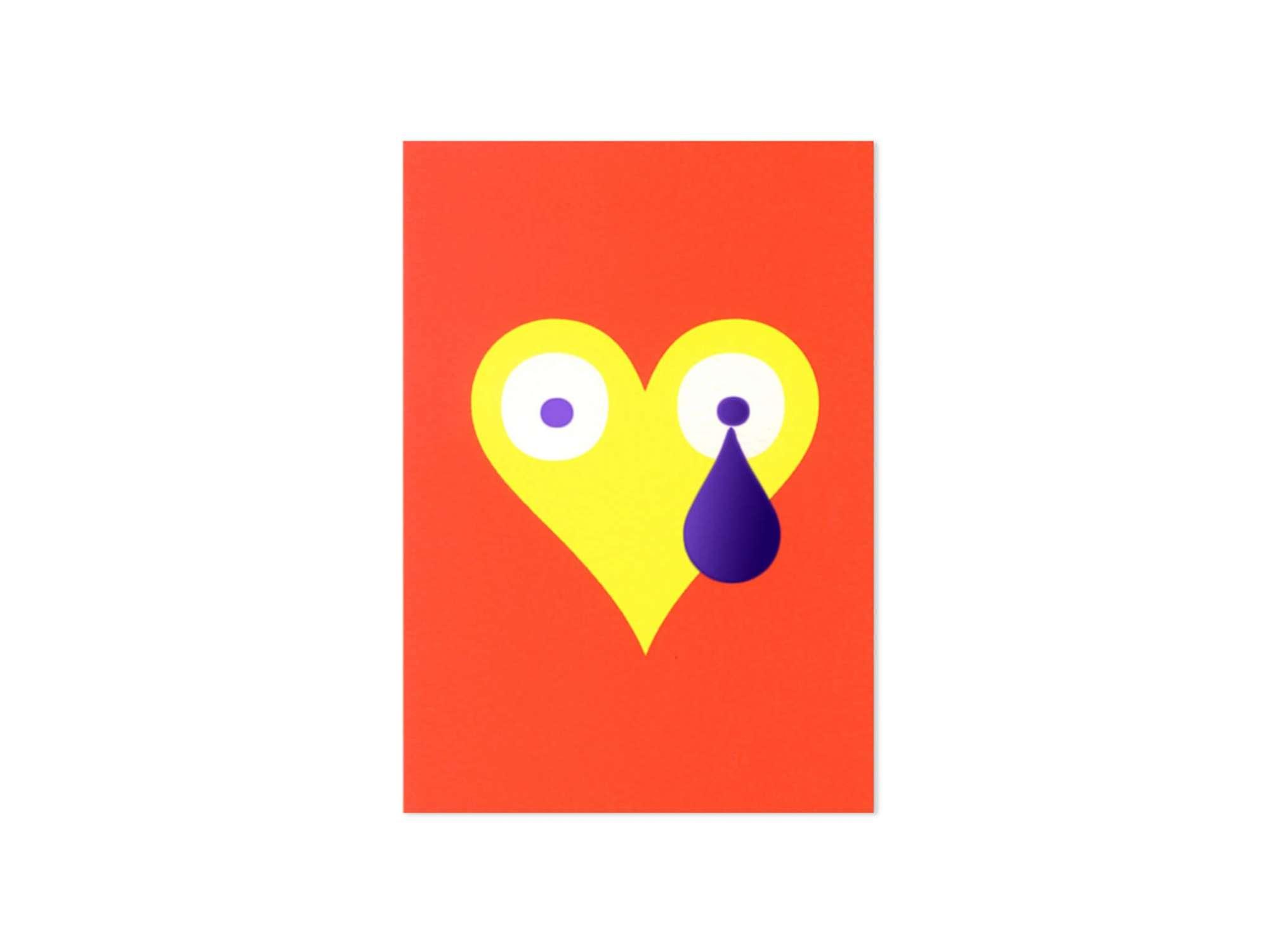 Carte coeur. Leitmotiv d'Ich&Kar, émotion, émoi, love love love romantisme absolu.