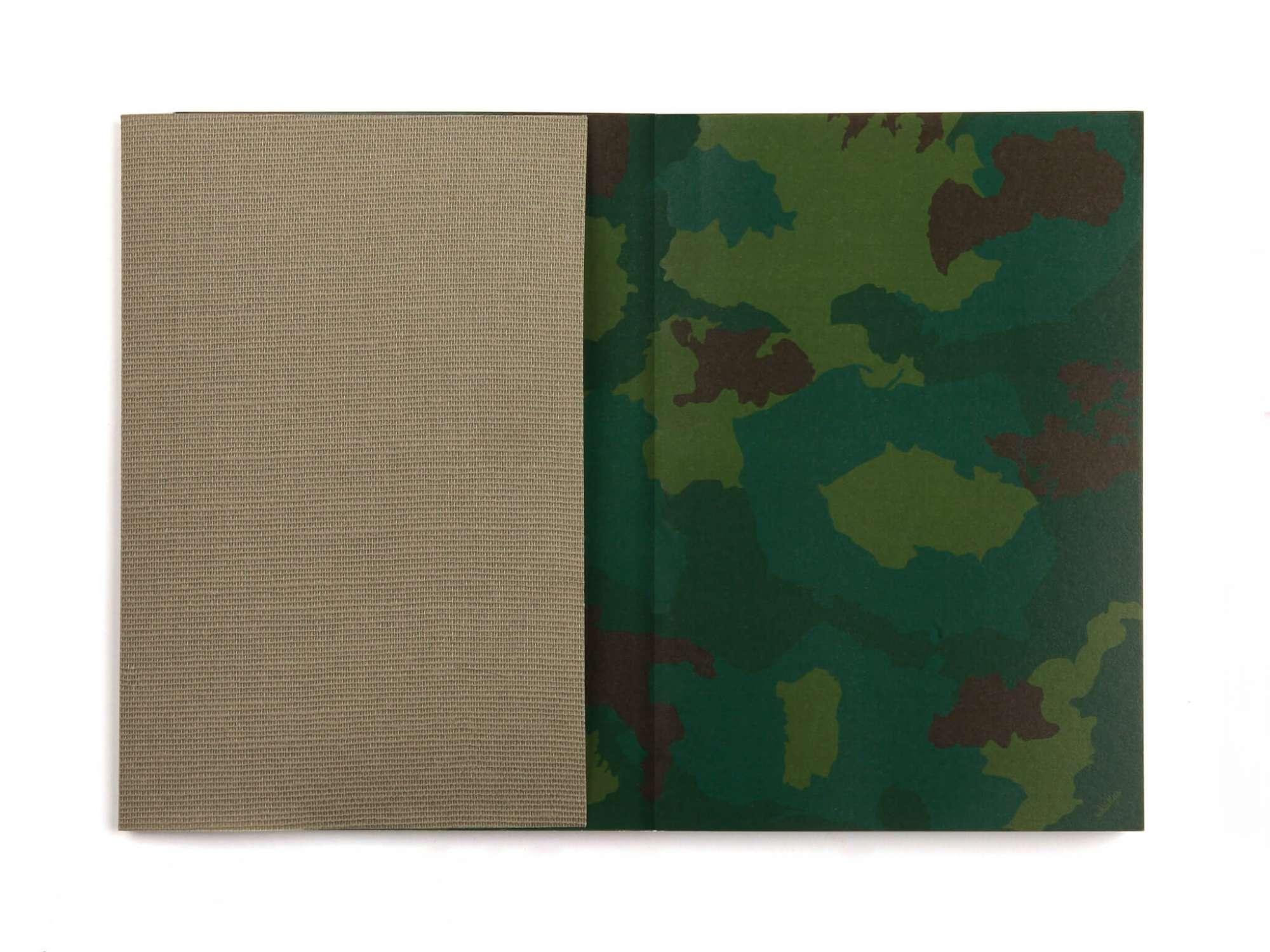 Carnet Ichetkar Camo, Camouflages du combattant pour inscriptions secrètes à ne pas dévoiler.