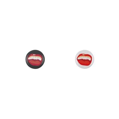 HAHAHA en noir et blanc. Badges pour affichez votre bonne humeur !