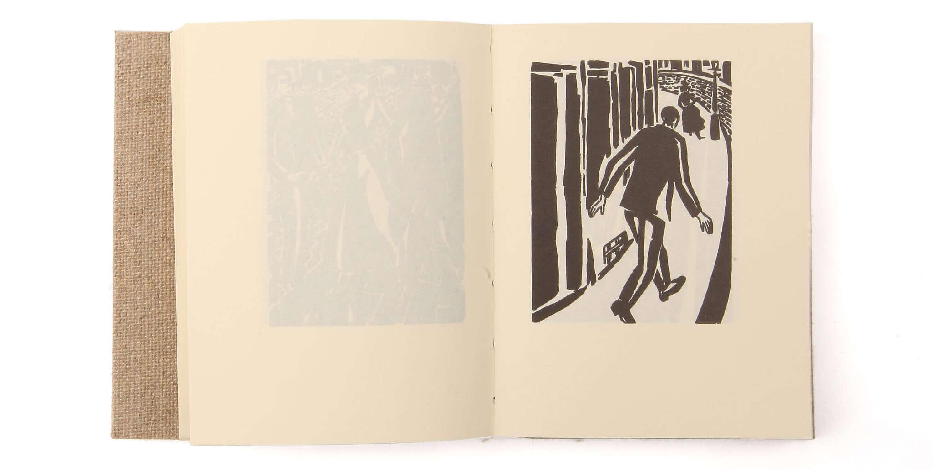 Frans Masereel Mon livre d'heures Éditions cent pages livre objet page intérieure bois gravé