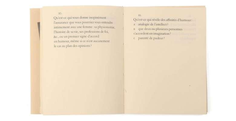 Max Frisch Questionnaires Éditions cent pages page intérieure questions 10-11