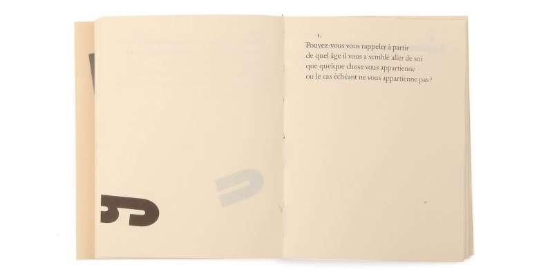 Max Frisch Questionnaires Éditions cent pages page intérieure jeu typographique SP Millot