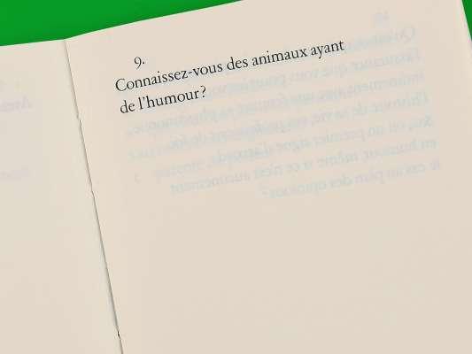 Max Frisch Questionnaires Éditions cent pages page intérieure question animaux et humour