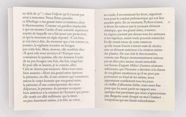 Marcel Proust Mort de ma grand-mère Éditions cent pages page 11 livre objet sp millot petit format