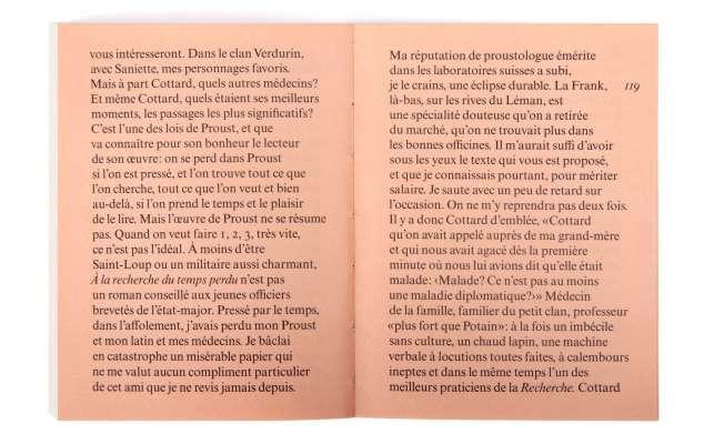 Marcel Proust Mort de ma grand-mère Éditions cent pages page 119 postface Bernard Frank Bergotte