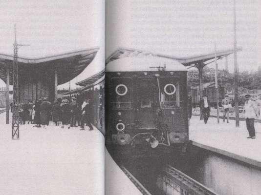 gare chemins de fer bécon-les-bruyères train électrique