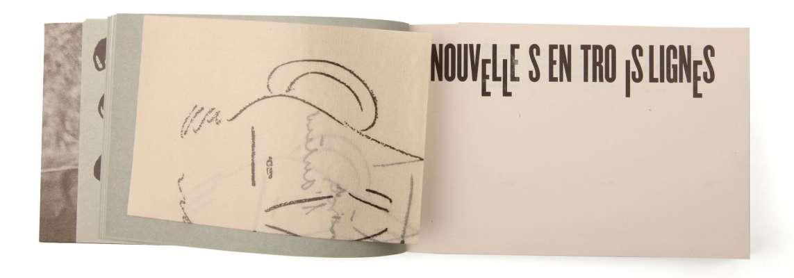 Félix Fénéon Nouvelles en trois lignes Éditions cent pages titre page intérieure encart autoportrait Fénéon