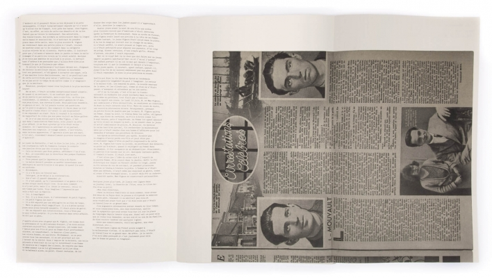 Emmanuel Bove Arrestations célèbres Éditions cent pages Fac-similé de Détective 15 octobre 1936 Arrestation de Mouvault