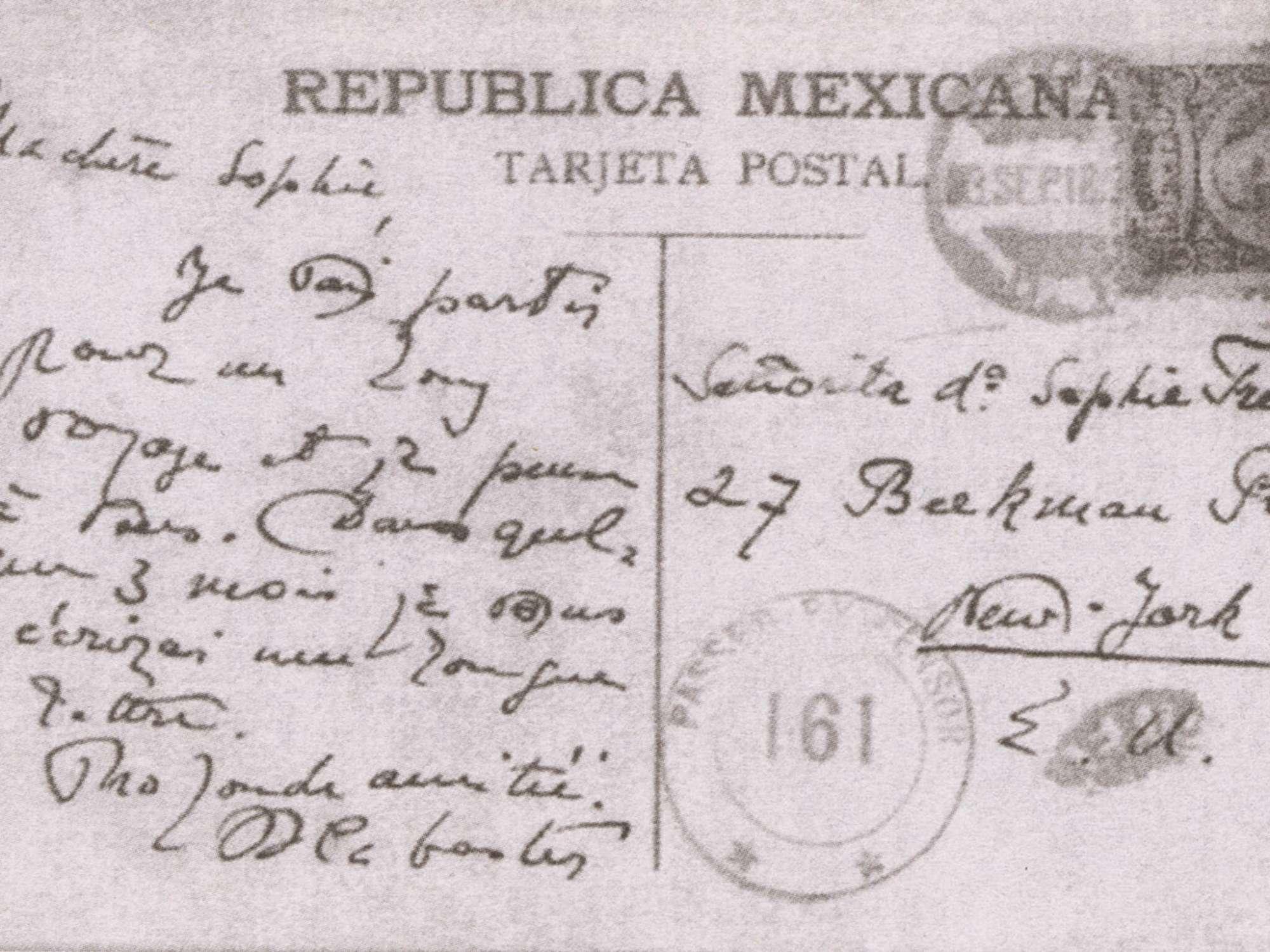 Arthur Cravan Pas Maintenant Éditions cent pages Lettre à Sophie Treadwell du 4 mai 1917