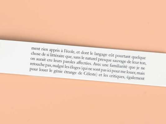 Marcel Proust Céleste Éditions cent pages page intérieure extrait À La Recherche du temps perdu Céleste Albaret et Marie Gineste