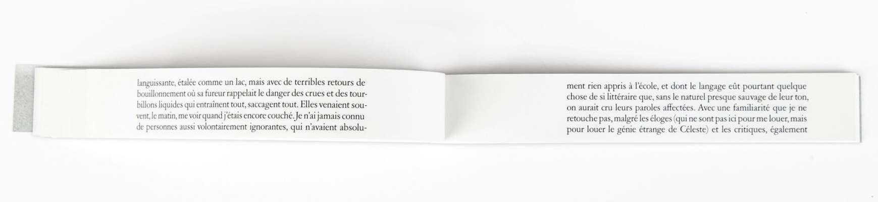Marcel Proust Céleste Éditions cent pages page intérieure extrait À La Recherche du temps perdu livre objet