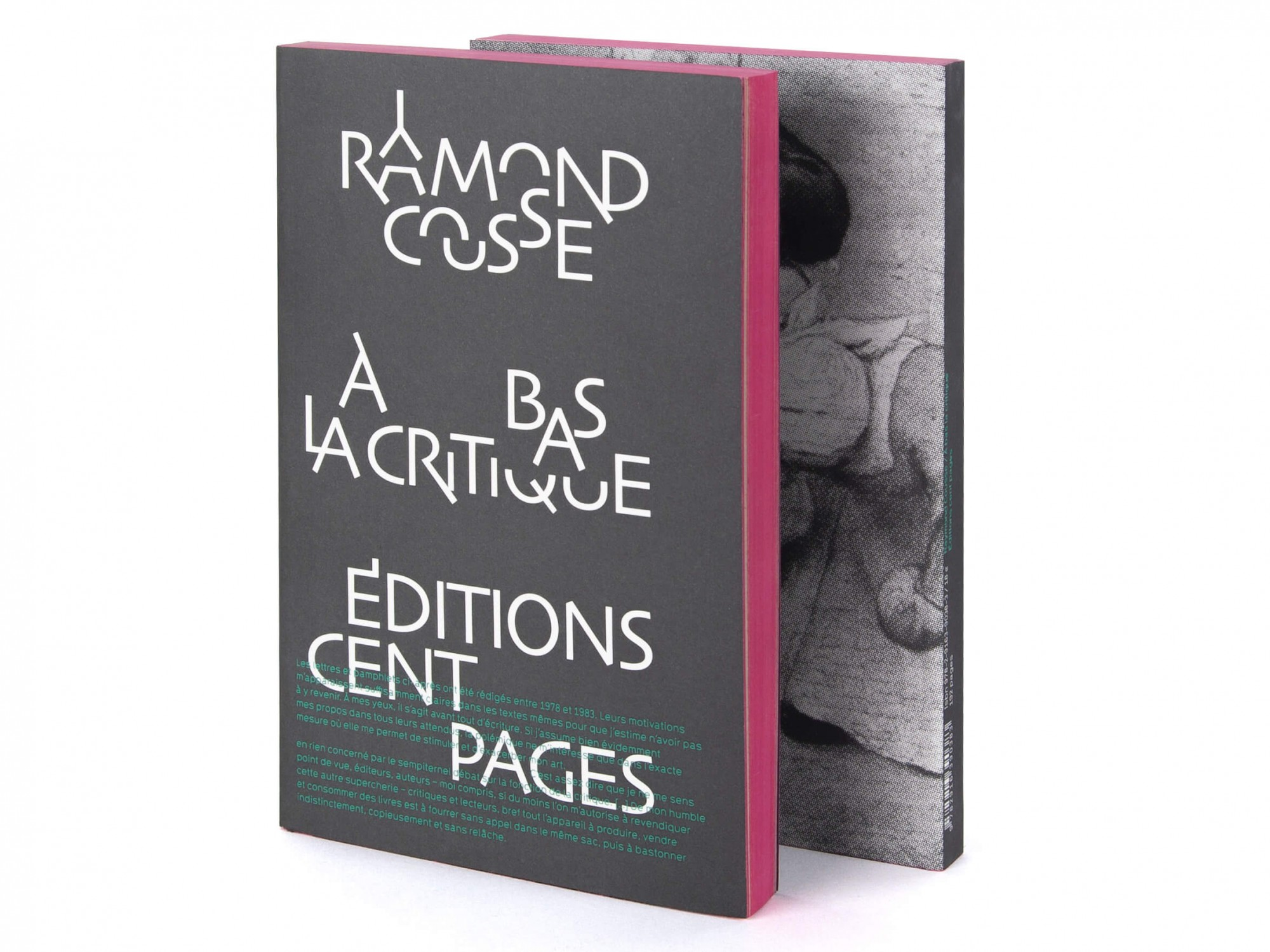Raymond Cousse À bas la critique Éditions cent pages Couverture