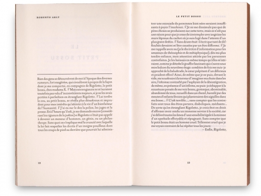 Roberto Arlt Le petit bossu Éditions cent pages Nouvelles Pages intérieures 12-13